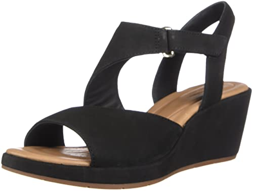fff6bbf6816 Image Unavailable. Image not available for. Color  CLARKS Womens Un Plaza  Sling Black Sandal ...