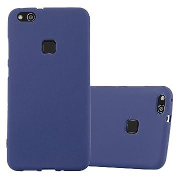 Cadorabo Funda para Huawei P10 Lite en Frost Azul Oscuro - Cubierta Proteccíon de Silicona TPU Delgada e Flexible con Antichoque - Gel Case Cover ...