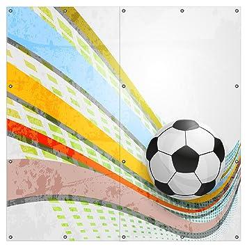 Wallario Xxl Garten Poster Outdoor Poster Fussball Ball