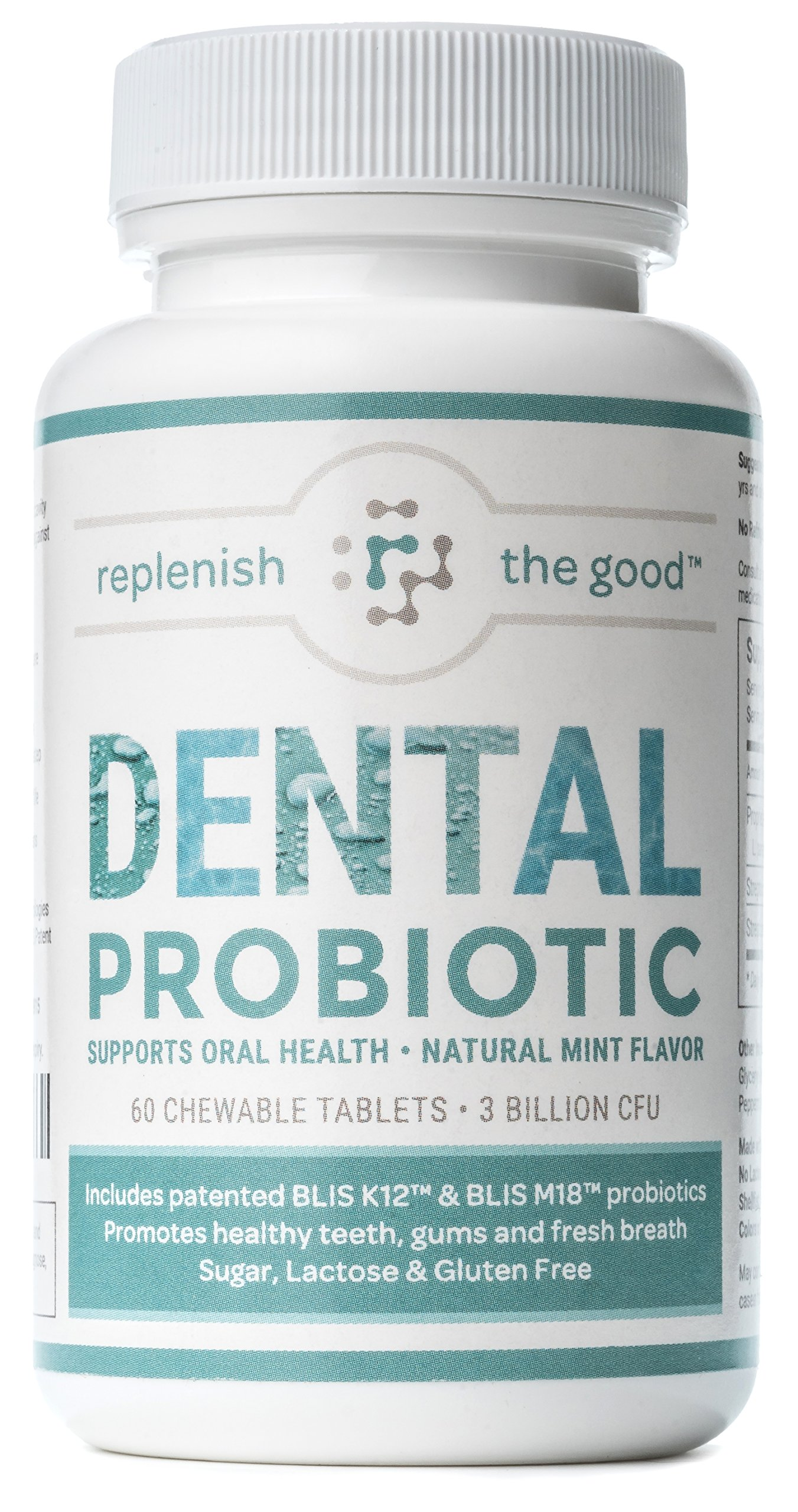 Dental Probiotic 60-Day Supply. Oral probiotics for Bad Breath, Tooth Decay, Strep Throat. Boosts Oral Health and Combats halitosis. Contains Streptococcus salivarius BLIS K12 & BLIS M18. by Replenish The Good