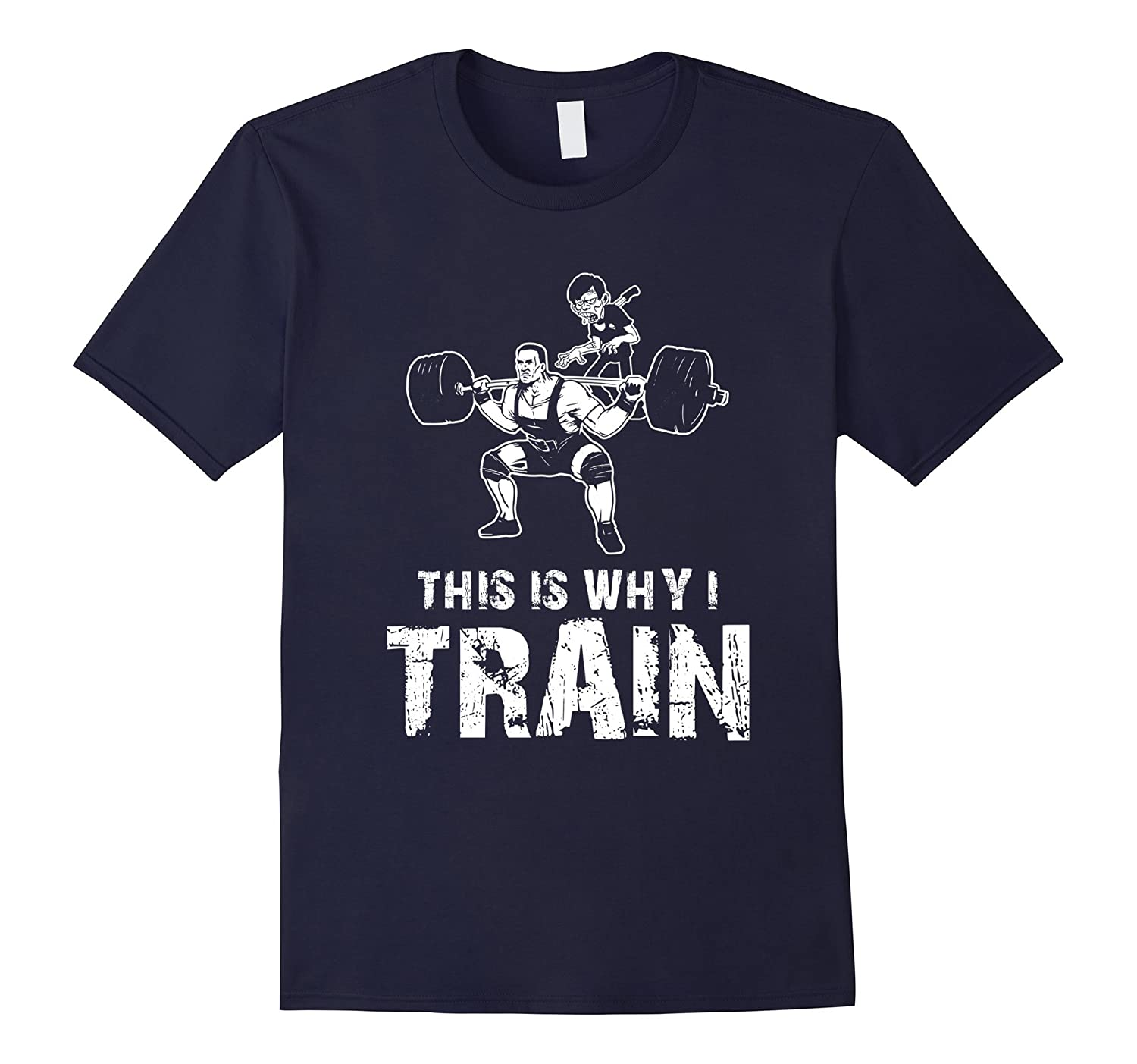 Mens Funny Zombie T-Shirt for Weightlifters-TH