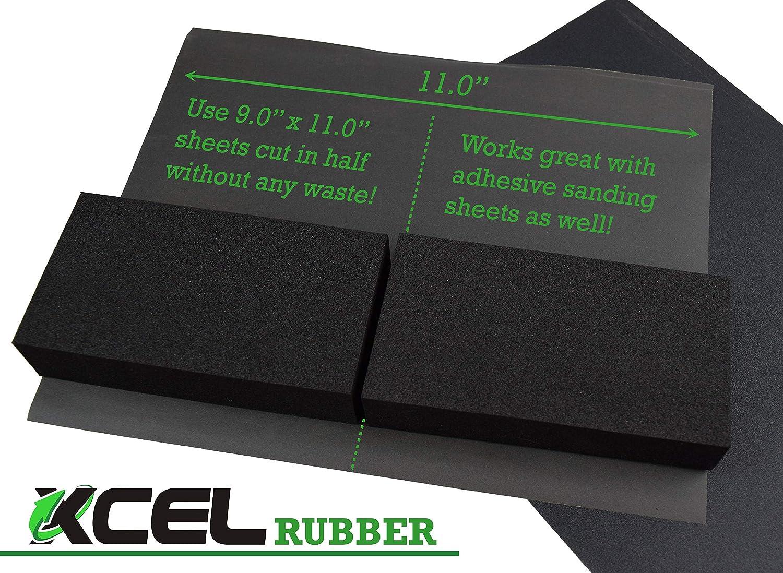 Pack of 2 XCEL Power-Block Black Scruff Pad Sanding Block Size 11 x 2 x 1