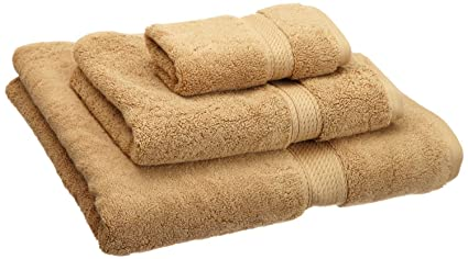 Superior 900 Gramos algodón Peinado. 3 Piezas Juego DE Toallas, Tostadas