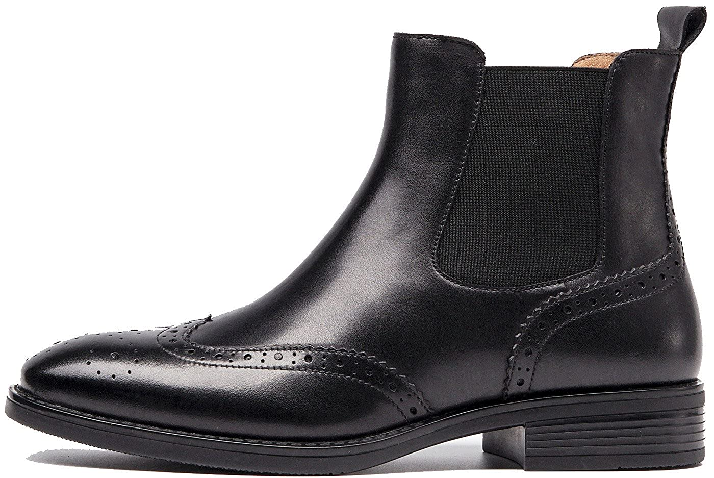0bc51976cd0 U-lite Womens Fall Winter Wing-tip Comfortable Brogue Leather Chelsea Ankle  Boots Women Booties