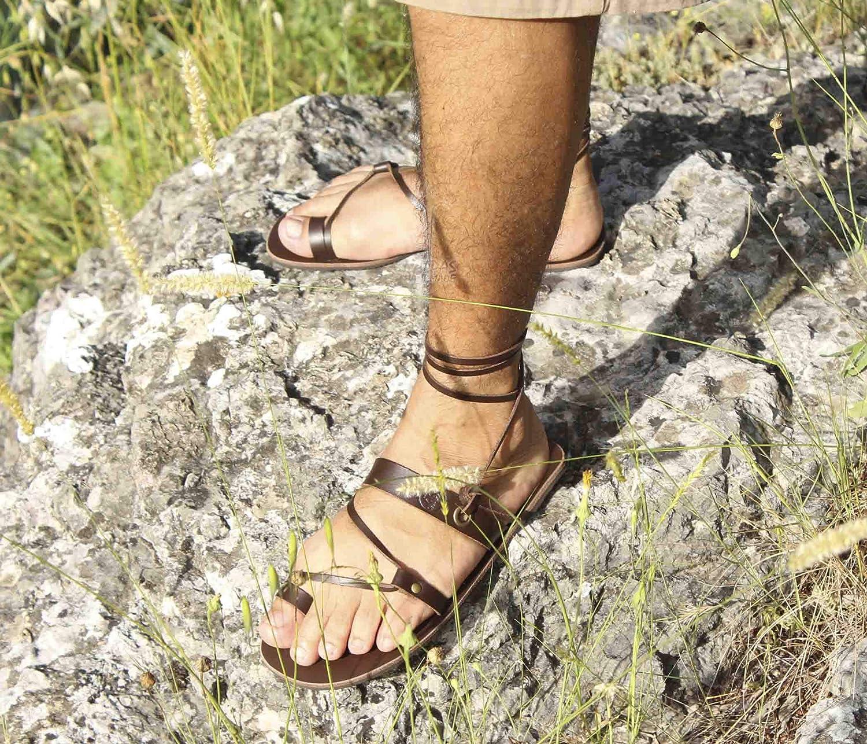 f488046b80191 Amazon.com: Barefoot Leather Flat Sandals/Minimalist Men Sandals ...