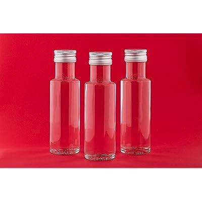 12bouteilles en verre vides 100ml dor Sch Bouteille bouteilles d'alcool liqueur bouteille de vinaigre bouteilles huile 100ml à remplir vous-même de slkfactory