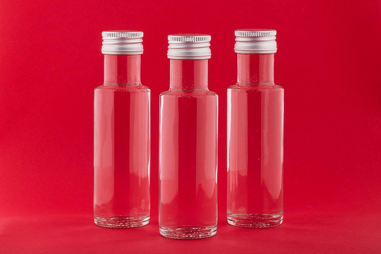 slkfactory 12Empty Glass Bottles Schnapps Bottles Vinegar Bottles Oil Bottles Bottle 100ml To Fill Yourself SLK GmbH