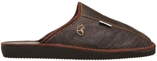 ESTRO Rust Lujo Zapatillas de Estar por casa la de los Hombres (40, marrón