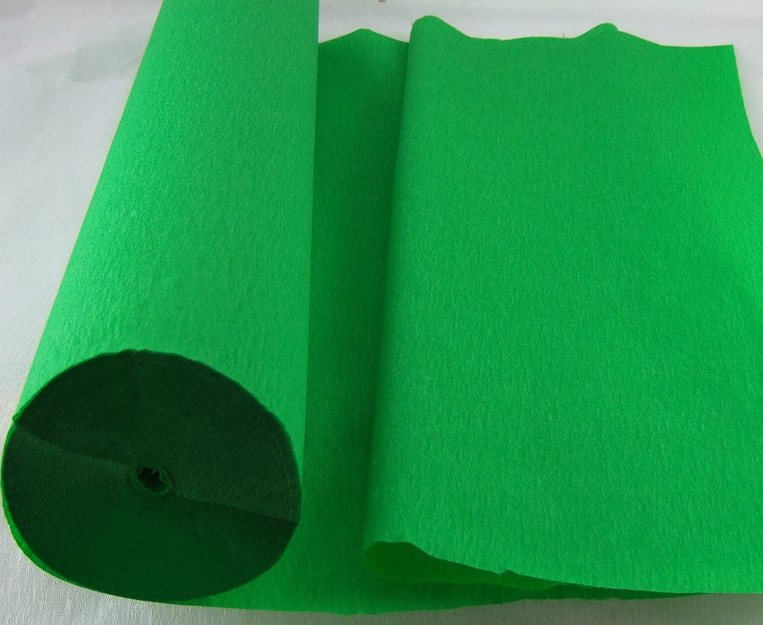 1 Light Green - Jumbo 26 Metre Crepe Paper Roll. 50cm x 26metres long Many uses as decorations, marketing tools, great favourite with schools and the craft industry Clikkabox Crepe C60V