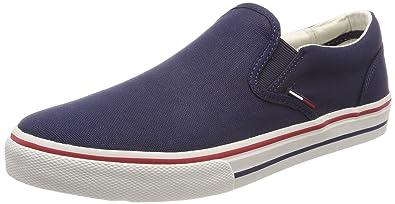 Tommy Jeans Hilfiger Denim Textile Sneaker, Sneakers Basses Homme, Bleu (Ink 006), 44 EU