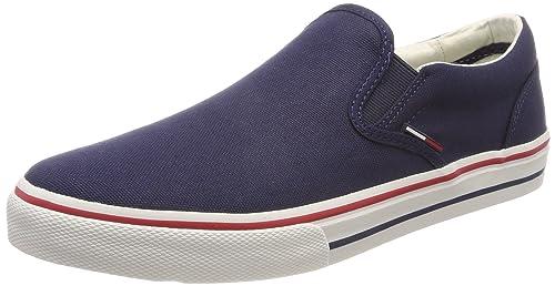 Tommy Jeans Textile Slip On, Zapatillas sin Cordones para Hombre: Amazon.es: Zapatos y complementos