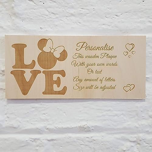 Personalised custom made wooden wall door sign plaque - 0