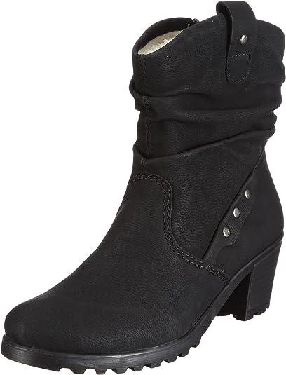 Rieker Damen warmer Boots Stiefeletten Winterschuh Winterstiefel Schuhe schwarz