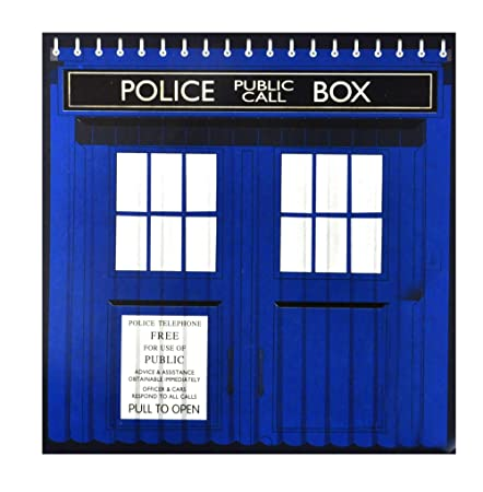 Tardis Dr Who Shower Curtain Amazoncouk Kitchen Home