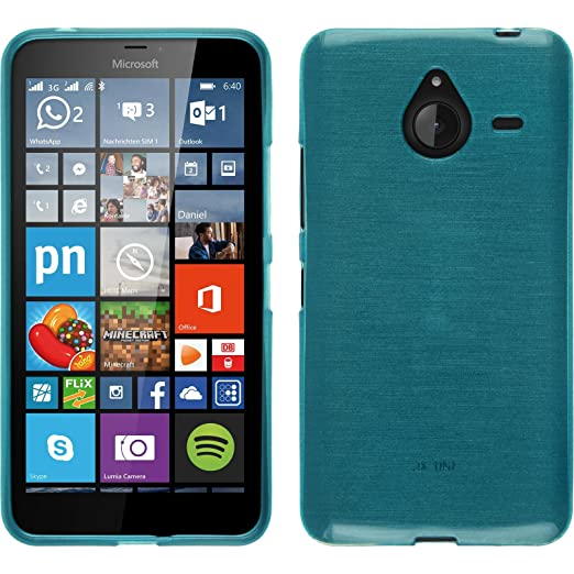 2 opinioni per PhoneNatic Custodia Microsoft Lumia 640 XL Cover blu brushed Lumia 640 XL in