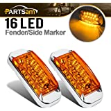 9babe8512335d Amazon.com: Maxxima M20320Y Amber 2-1/2 Rectangular LED Clearance ...