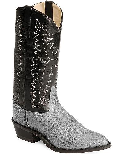 6cf90e24cf4 Old West Men's Elephant Print Cowboy Boot