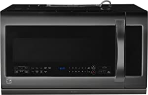 Kenmore Elite 87587 2.2 cu. ft. Over-the-Range Microwave Oven, Black Stainless Steel