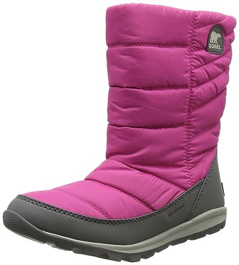 Sorel Youth Whitney Mid, Botas de Nieve para Niñas, Rosa (Pink Ice/Quarry), 37 EU