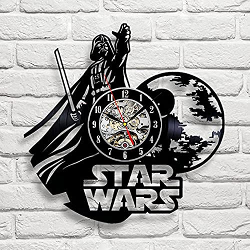 Star Wars Art Vinyl Wall Clock Gift Room Modern Home Record Vintage Decoration