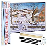 Bits and Pieces - Complete Puzzle Framing Kit - Custom Black Metal Frame Fits 20 x 27 Inch Puzzles