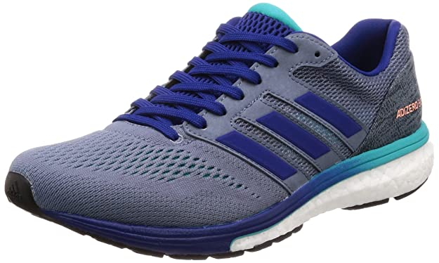 adidas Adizero Boston 7 m, Zapatillas de Running para Hombre, Gris (Raw Steel S18/Mystery Ink F17/Hi-Res Aqua F18), 44 2/3 EU: Amazon.es: Zapatos y complementos