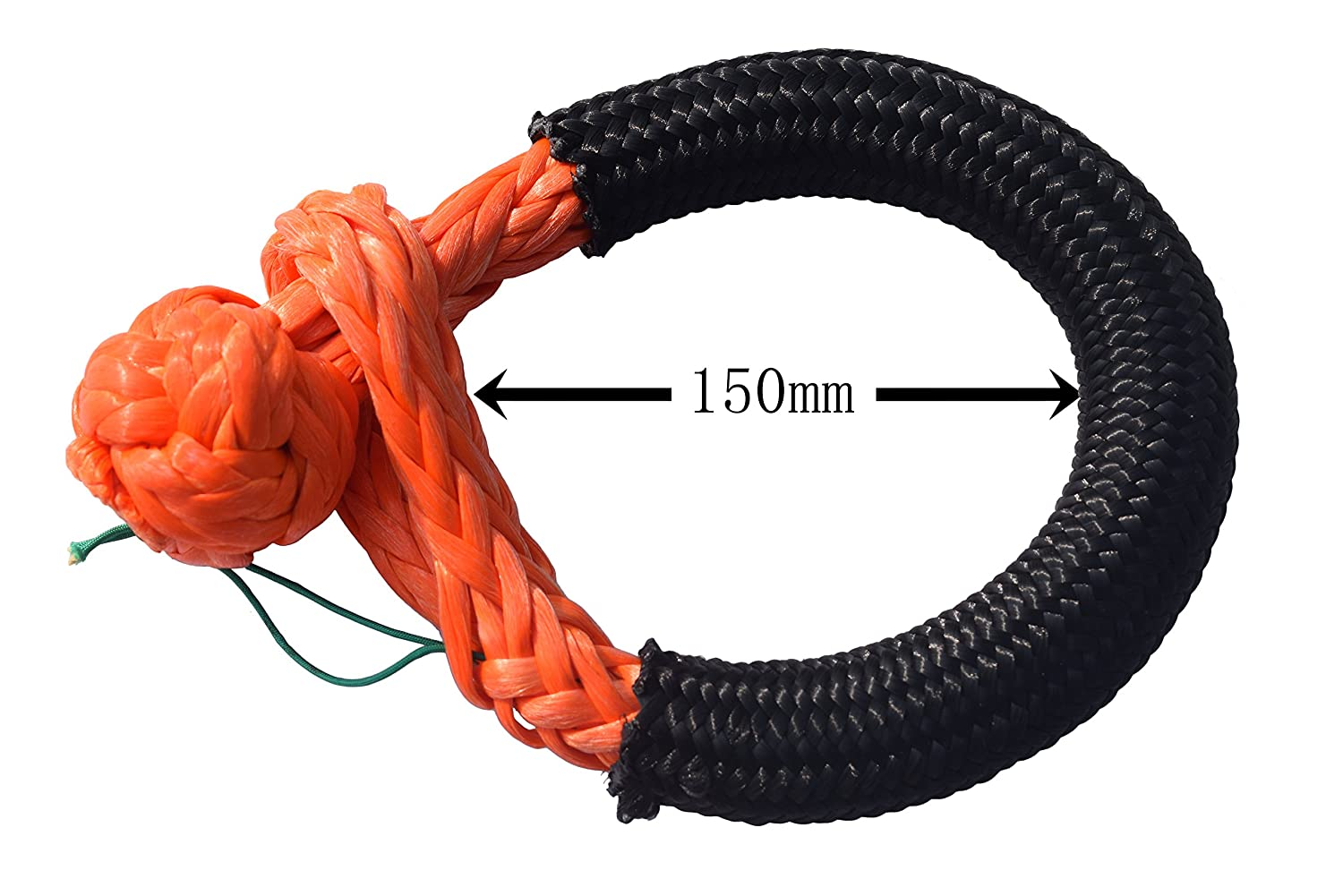 12mm150mm Soft Shackle for Off-Road ATVs UTVs Synthetic Rope Winch Bumper Shackle ATV Winch Shackle