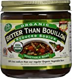 Better Than Bouillon Organic Vegetable Base, Reduced Sodium (Large 16 oz Jar)