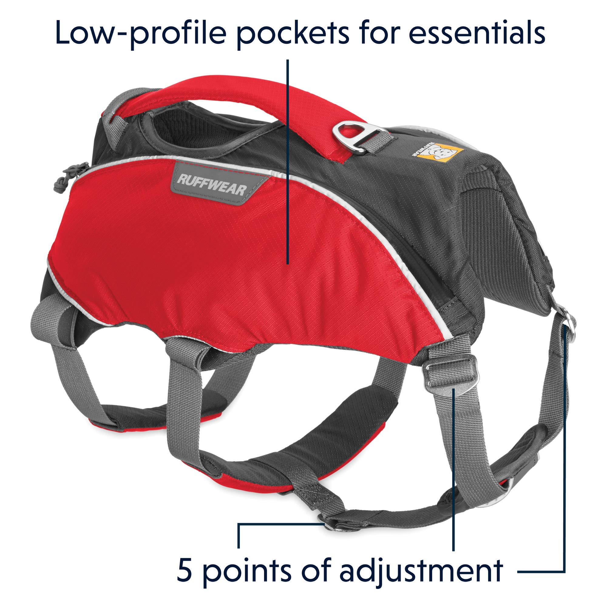 RUFFWEAR - Web Master Pro Dog Harness, Search and Rescue, Service Dogs, Snowboarding, Skiing, Everyday Wear, Red Currant, Small by RUFFWEAR (Image #5)