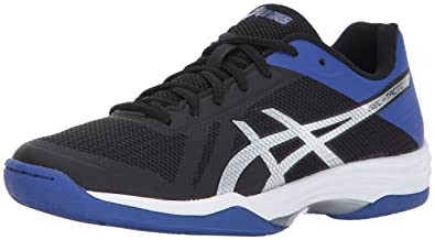 best website 08d3c 3ae9e ASICS Womens Gel-Tactic 2 Volleyball Shoe, Black Blue Silver, 6 Medium