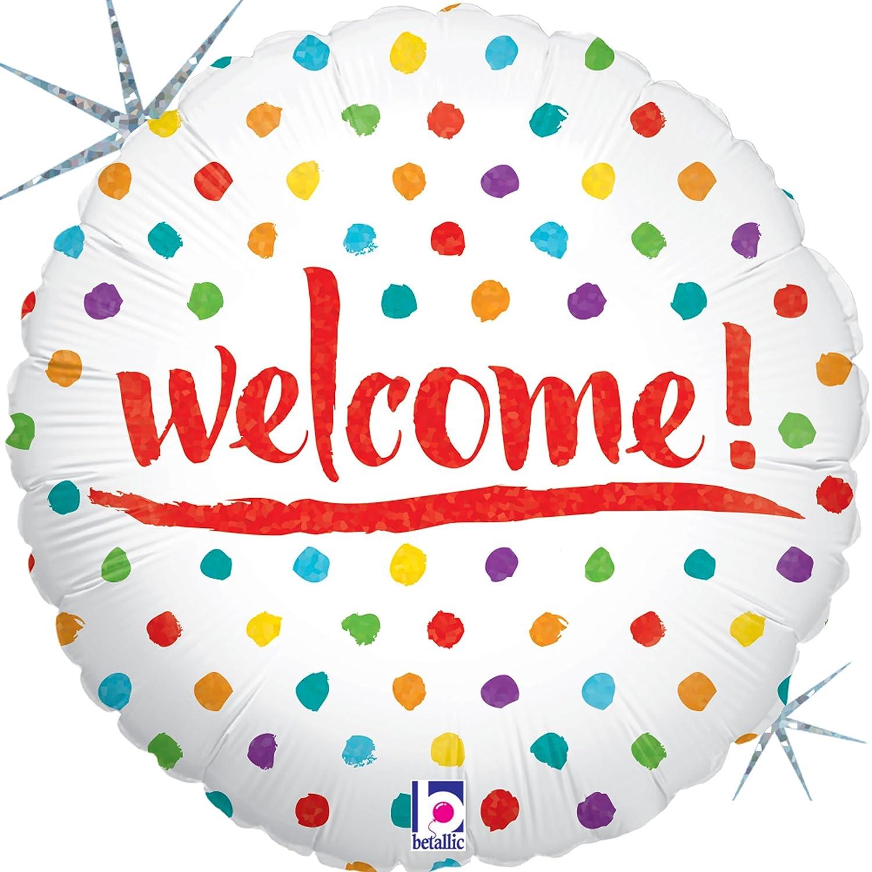 Welcome Dots Mylar Balloon   B06ZYDKCNX