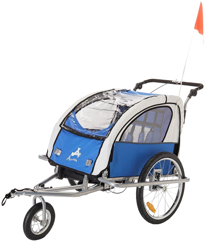 Amazon.com : Aosom Elite II 3in1 Double Child Bike Trailer, Blue ...