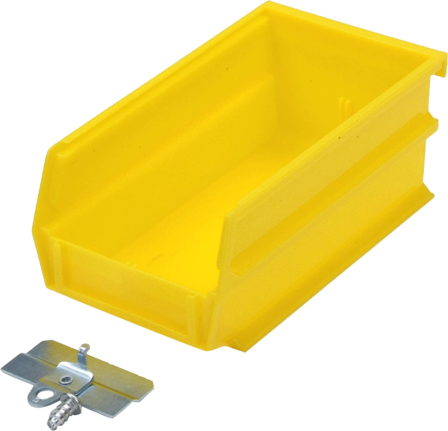Triton Products Bk 220 Locbin Binkit Hanging Bin And Binclip Kits 7 3 8 Inch L By 4 1 8 Inch W By 3 Inch H Yellow Polypropylene 24 Count Home Kitchen Amazon Com