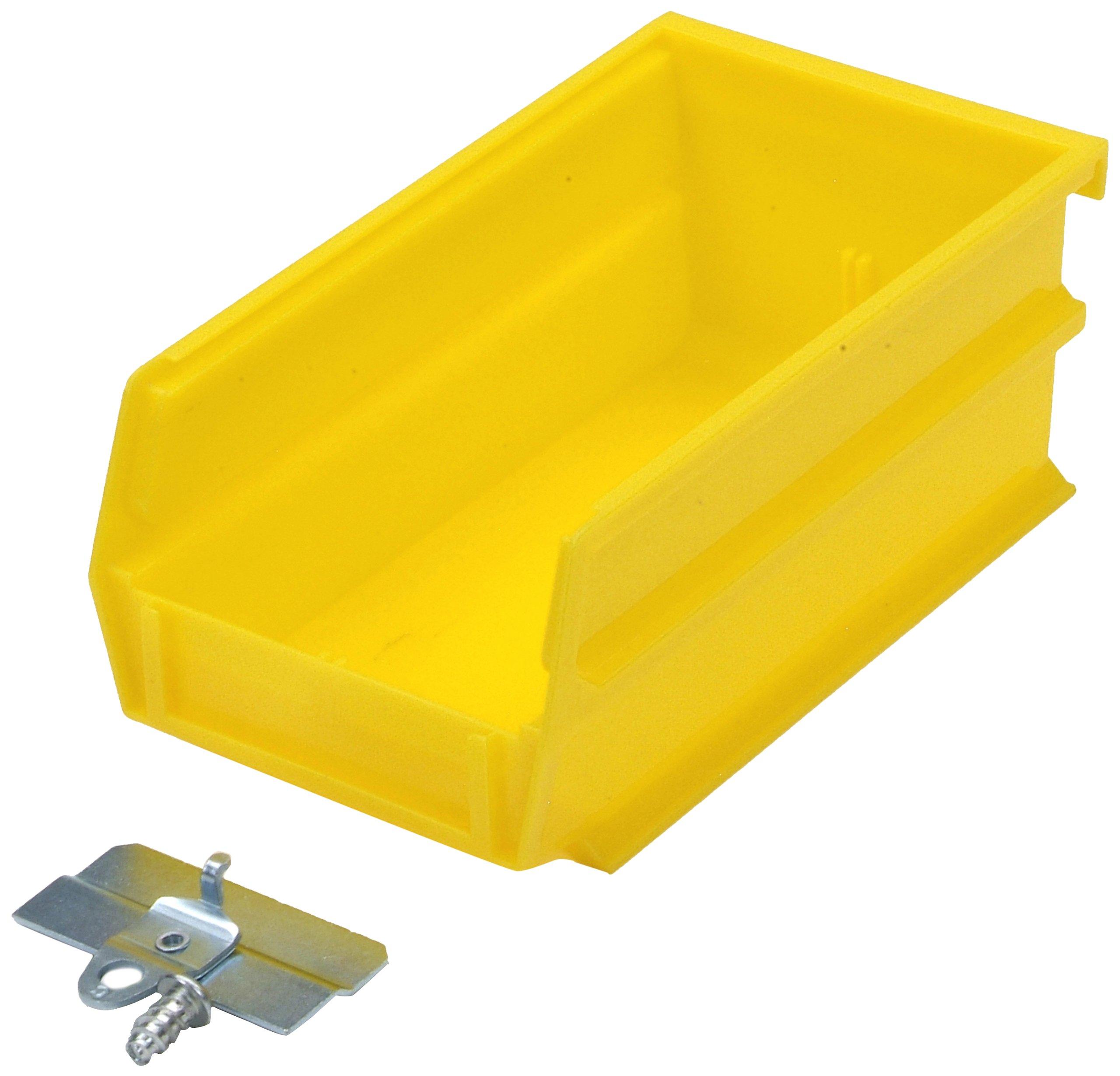 BinKit Triton Products BK-220 LocBin Hanging Bin BinClip Kits 7-3/8-Inch L 4-1/8-Inch W 3-Inch H Yellow Polypropylene 24 Count