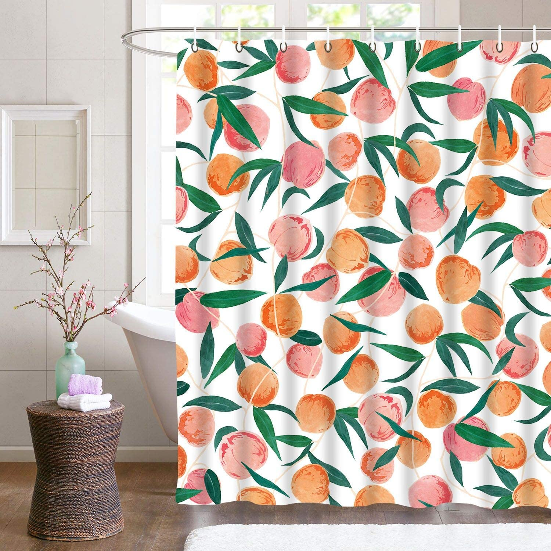 home decor ideas - cute peach shower curtain