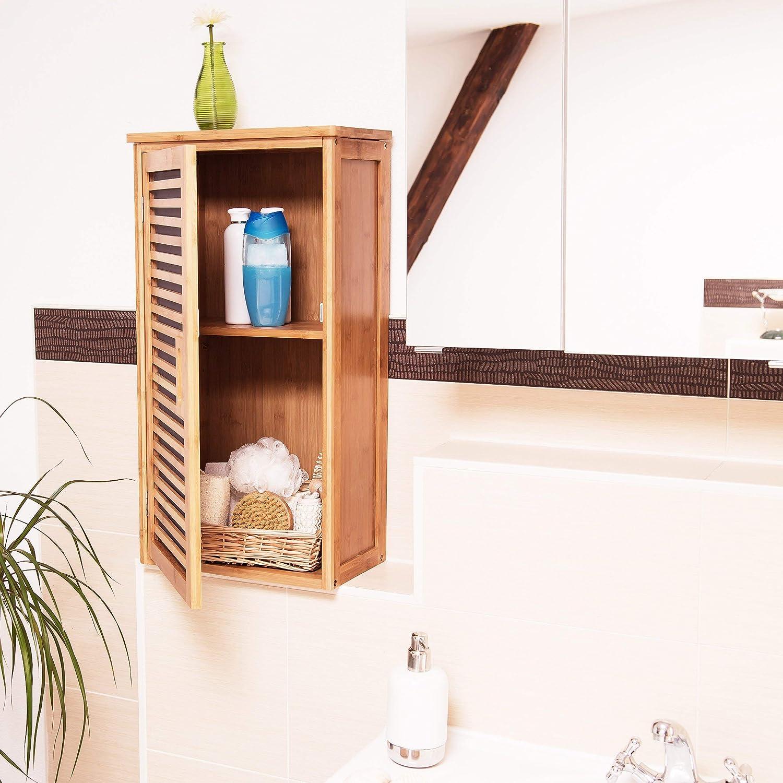 Relaxdays Armario de pared con 1 estante flexible hecho de ...