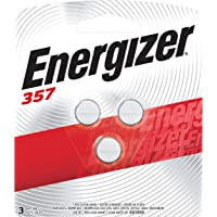 3-Pack Energizer 357 LR44 1.5V Zero-Mercury Silver Oxide Battery for Watches and Calculators