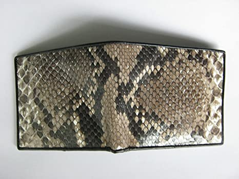Handmade Genuine Snake Skin Leather Bifold Wallet Size 11x9 5 Cm Rn31