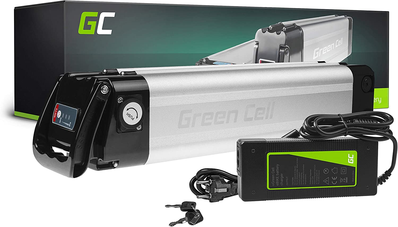 GC® Bateria Bicicleta Electrica 24V 10.4Ah Silverfish Li-Ion E-Bike Batería y Cargador
