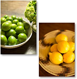 Popular Bowls of Lemon and Lime; Kitchen Decor; Two 12x18in Poster Prints
