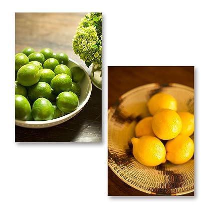 Amazon Com Popular Bowls Of Lemon And Lime Kitchen Decor Two