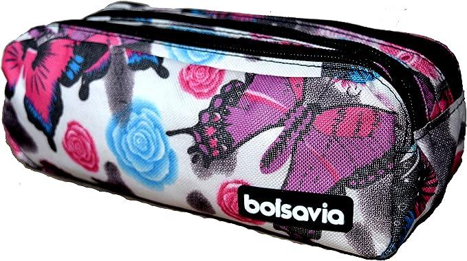 Bolsavia Portatodo Triple Grande Neceser Estuche (202511 Mariposa): Amazon.es: Juguetes y juegos