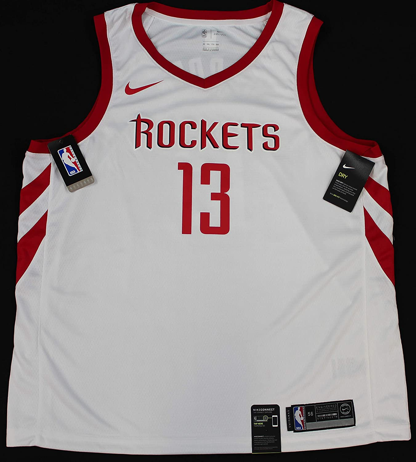 4028383a5 James Harden Autographed White Houston Rockets Jersey - Hand Signed By James  Harden and Certified Authentic by Fanatics - Includes Certificate of ...