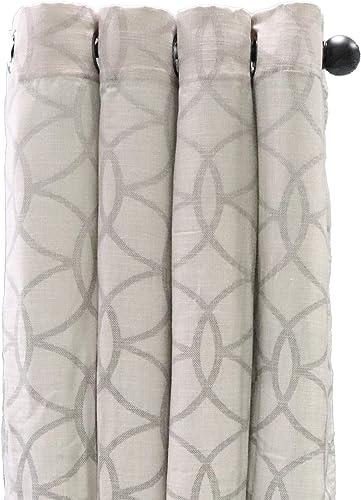 White Dove 54″ x 84″ Canton Linen Panel Curtain