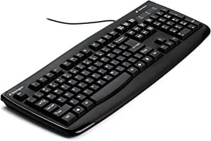 Kensington K64407US Pro Fit USB Washable Keyboard with Anti-microbial Protection, Black