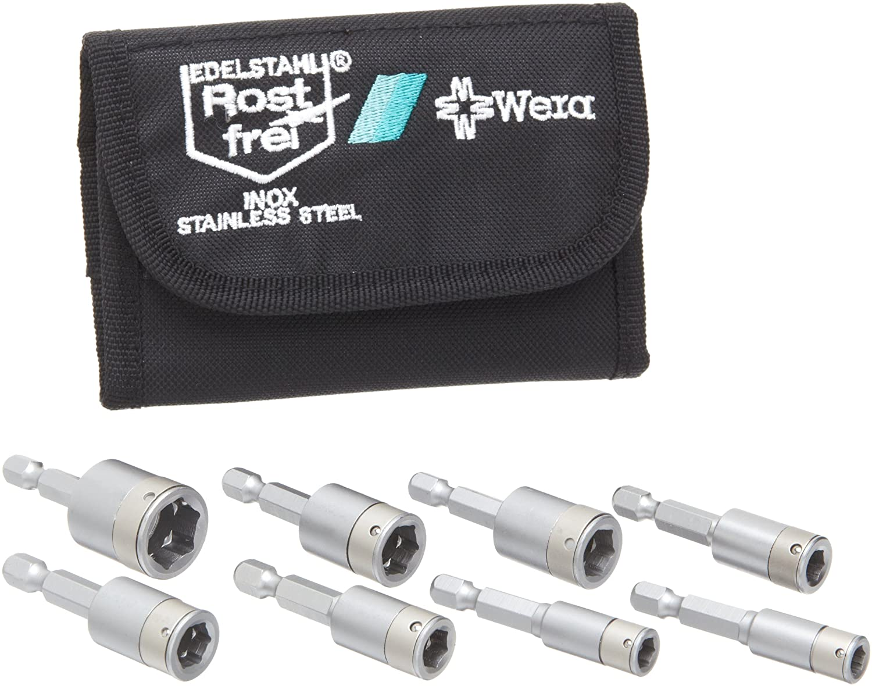 Nut Setter 3//8 x 60mm Blade Pack of 5 Wera Nut Setter Series 869//4 Non-magnetic Bit