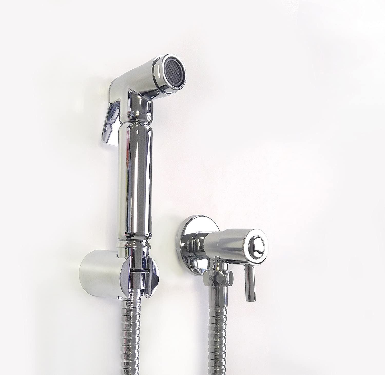 Chrom Badezimmer Muslim Shattaf Bidet Dusch Set Dusche WC Reinigung Spr/ühkopf