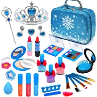 Washable Kids Makeup Frozen Toys - Frozen Makeup Kids Makeup Kit for Girl Children Real Make up Set Non Toxic Cosmetic…