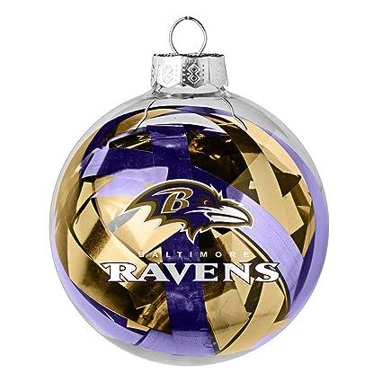 NFL Baltimore Ravens Large Tinsel Ball Ornament - Amazon.com : NFL Baltimore Ravens Large Tinsel Ball Ornament