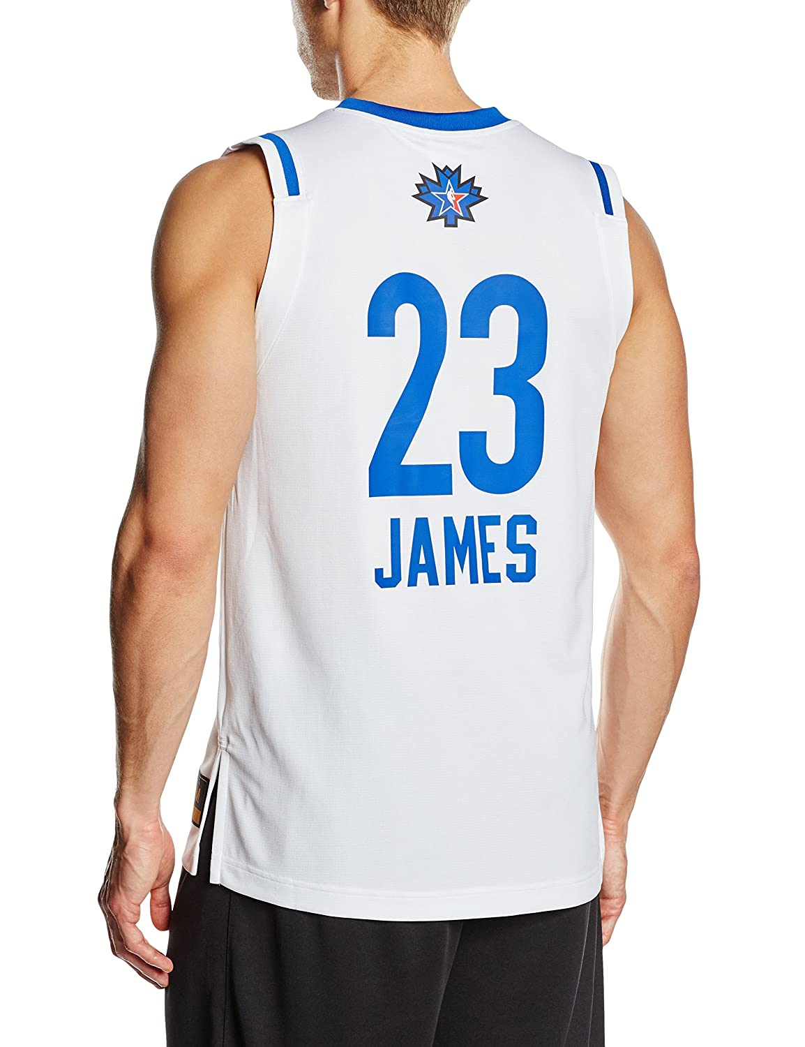 Adidas - Camiseta de Baloncesto para Hombre, diseño NBA All Star Game East Swingman, réplica de la Camiseta n.º 23 de Lebron James, Hombre, Color Blanco, ...